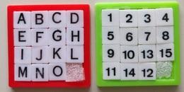 2 Taquins - Pousse Pousse - Lettres Et Chiffres - Brain Teasers, Brain Games