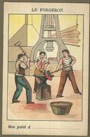 """1460 """" LES METIERS ET LEURS OUTILS  - N° 9 - LE FORGERON """" FIGURINA DIDATTICA ORIGINALE - Schede Didattiche"""