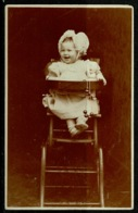 Ref 1230 - 1905 Judge Real Photo Postcard - Child In A High Chair - Hastings To London - Children