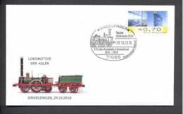 5.- GERMANY ALLEMAGNE 2010. SPECIAL POSTMARK. LOCOMOTIVE ADLER. TRAIN. RAILWAYS - Trains