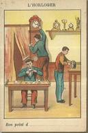 """1461 """" LES METIERS ET LEURS OUTILS  - N° 10 - L'HORLOGER """" FIGURINA DIDATTICA ORIGINALE - Schede Didattiche"""