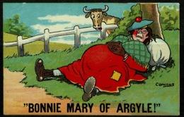 Ref 1230 - 1912 Comicus Comic Postcard - Bonnie Mary Of Argyle - Burnley Krag Postmark - Comics