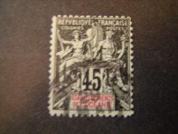 OCEANIE - 1900, Fournier Rare, Cent. 45 ., N. 19 Obl.,  TTB - Usati