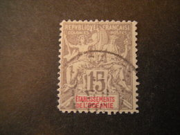 OCEANIE - 1900, Fournier Rare, Cent.15, N.16 Obl., TTB - Gebraucht