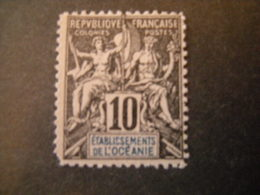 OCEANIE - 1892, Fournier Rare, Cent. 10,  N. 5, MLH* TTB - Ungebraucht