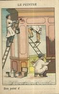 """1469 """" LES METIERS ET LEURS OUTILS  - N° 18- LE PEINTRE """" FIGURINA DIDATTICA ORIGINALE - Schede Didattiche"""