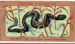 CHROMO CHOCOLAT D'AIGUEBELLE  LES REPTILES  LE CROTALE  SERPENT A SONNETTES - Aiguebelle