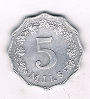 5 MILS 1972  MALTA /6692/ - Malta