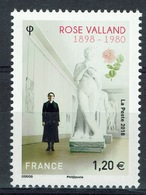 France, Rose Valland, French Art Historian, French Resistance, 2018, MNH VF - France