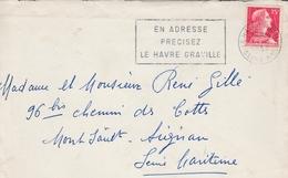 Le Havre Graville 1957 - 76 - Flamme Sur Muller - Oblitérations Mécaniques (flammes)