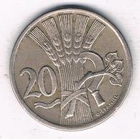 20 HALLER 1921 TSJECHOSLOWAKIJE /6696// - Czechoslovakia