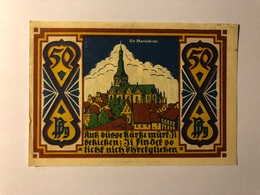 Allemagne Notgeld Osnabruck 50 Pfennig - [ 3] 1918-1933 : République De Weimar