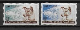 ROUMANIE - YVERT N° 1550/1551 ** MNH  - COTE = 12 EUR. - CHIEN - Nuevos