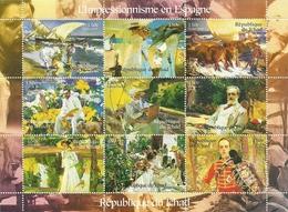 TCHAD 2001  IMPRESIONISMO EN ESPAÑA ** MNH - Impresionismo