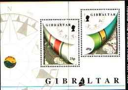 72581) GIBILTERRA 1992 Regata Intorno Al Mondo 1 BF MNH** - Gibilterra
