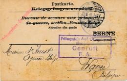 Carte Réception Pain D'un Prisonnier De Guerre Altengrabow 28-6-16 - Changement D'adresse - Guerra '14-'18