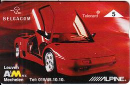 BELGIUM - Lamborghini, Alpine, CN : 604L, Tirage 1000, Mint - Cars