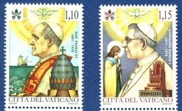 VATICANO 2018 Canonizzazione Di Papa Paolo VI E 40º Ann. Della Morte Di Papa Giovanni Paolo I Serie Cpl. 2v. Nuovi** - Vaticano