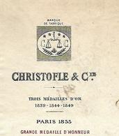 Facture 1889 / PARIS SAINT DENIS CHRISTOFLE & Cie/ Orfévrerie / Maison à Carlsruhe - 1800 – 1899