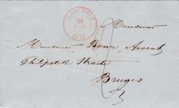 Voorloper Brief Van  THOUROUT => BRUGES Van ( 21 Mars 1847 - 1830-1849 (Belgique Indépendante)