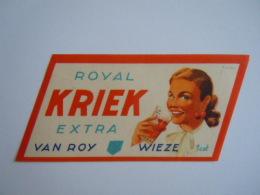 Label Etiquette Bier Bière Beer Royal Kriek Extra Van Roy Wieze 1 Cat - Bier
