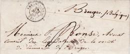 Voorloper Brief Van  VALENCIENNES => BRUGES Van ( 29 Mai 1853 ) - Belgique