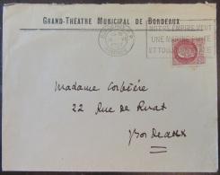 """Flamme Publicitaire """"Notre Empire Veut Une Marine Etc..."""" Sur Enveloppe Théâtre De Bordeaux - 1942 - Timbre YT N°516 - Marcophilie (Lettres)"""