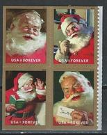 USA. Scott #  MNH Pane Of 4 From Booklet. Sparkling Holidays Santa 2018 - Booklets