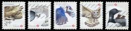 Canada (Scott No.3018-22 - Oiseaux / Birds) (o) Set - 1952-.... Regering Van Elizabeth II