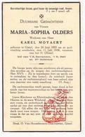 DP Maria S. Olders ° Gistel 1853 † 1938 X Karel Moyaert - Devotion Images