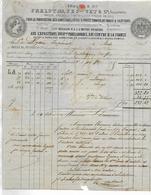 Facture Lettre 1865 / 63 CLERMONT-FERRAND / FRELUT, FESQUET / Confitures Pâtes De Fruits / Lycée Impérial AUCH - France