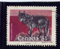 CANADA 1989, USED # 1175,  MAMALS DEFINITIVES: TIMBER WOLF  SINGLE - 1952-.... Règne D'Elizabeth II