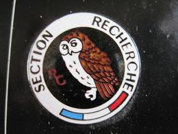 PINS Rond POLICE, SECTION DE RECHERCHE (CHOUETTE) T.B.E. - Police
