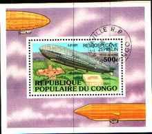 72588) CONGO Brazzaville 1977 Zeppelin Zeppelins Dirigeable Dirigeables Montgolfier Mon-USATO - Congo - Brazzaville