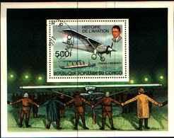 72589) Congo République Bloc Avion Lindbergh Aviation 1977 Num: BF 12 -USATO - Congo - Brazzaville