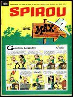 """SPIROU N° 1376 -  Année 1964 - Couverture """" GASTON """" De FRANQUIN. - Spirou Magazine"""