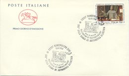 ITALIA - FDC   CAVALLINO 1994 - SUMMA ARITHMETICA - PACIOLI - ANNULLO SPECIALE SANSEPOLCRO - 6. 1946-.. Repubblica