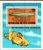 72592) COSTA D'AVORIO VOLO ZEPPELIN-BF -USATO - Costa D'Avorio (1960-...)