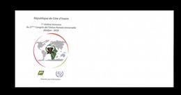 COTE D'IVOIRE IVORY COAST 2018 - CONGRESS CONGRES UPU ABIDJAN 2020 - ELEPHANT ELEPHANTS - EMPTY FDC ENVELOPPE VIDE- RARE - Côte D'Ivoire (1960-...)