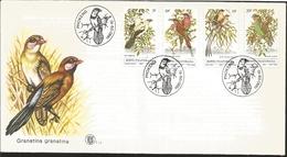 J) 1980 BOTSWANA, BIRDS, MULTIPLE STAMPS, FDC - Botswana (1966-...)