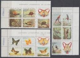 1961-125 CUBA 1960. Ed.890-04. MNH. NAVIDADES CHRITSMAS, BIRDS, AVES, SNAIL, CARACOLES, MARIPOSAS, BUTTERFLIES. - Cuba