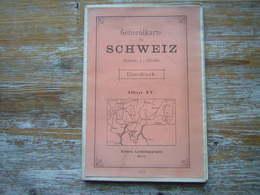 ANCIENNE CARTE ROUTIERE  GENERALKARTE SCHWEIZ UBERDRUCK BLATT IV  1912 Schweiz Landestopographie Bern - Cartes Routières
