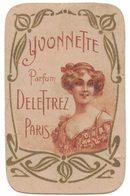 Carte Parfumée YCONNETTE Parfum DELETTREZ PARIS Verso Publicitaire BEZIERS J BILLARD & Cie Engrais - Antiguas (hasta 1960)
