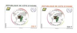 COTE D'IVOIRE IVORY COAST 2018 - IMPERF NON DENTELE ND -CONGRESS CONGRES UPU ABIDJAN 2020- ELEPHANT ELEPHANTS - RARE MNH - Côte D'Ivoire (1960-...)