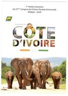COTE D'IVOIRE IVORY COAST 2018 CARTE CARD - CONGRESS CONGRES UPU ABIDJAN 2020 - ELEPHANT ELEPHANTS - RARE - Côte D'Ivoire (1960-...)