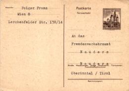 Postkarte An Das Fremdenverkehrsamt Nauders * 16. 4. 1963 - Nauders