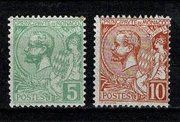 Monaco 1901 Yv. 22/23* MH Second Choix / Tweede Keus Yv. € 4,50 (2 Scans) - Neufs