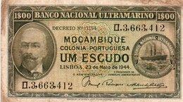 MOZAMBIQUE=1944      1  ESCUDO    P-92   V FINE - Mozambique