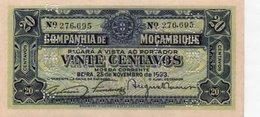 MOZAMBIQUE=1933      20  CENTAVOS    P-R-29  > CANCELED<   UNC - Mozambique
