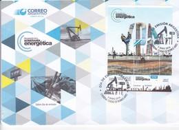 RECUPERACION DE LA SOBERANIA ENERGETICA. FDC BUENOS AIRES 2014 BLOCK STAMP, GRAND FORMAT ENVELOPE- BLEUP - FDC